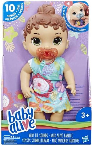 Baby Alive Baby LiL Sounds Interactive Brown Hair Doll